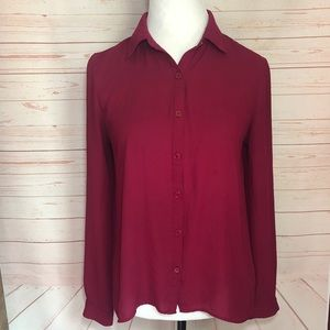 Maurices Maroon Top | Small